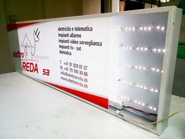 Cassonetto luminose Led